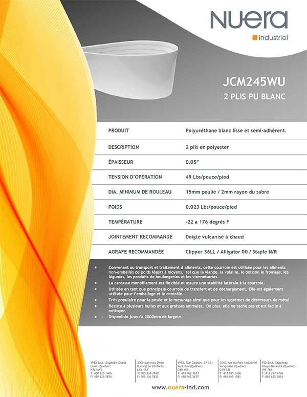 Courroie JCM245WU