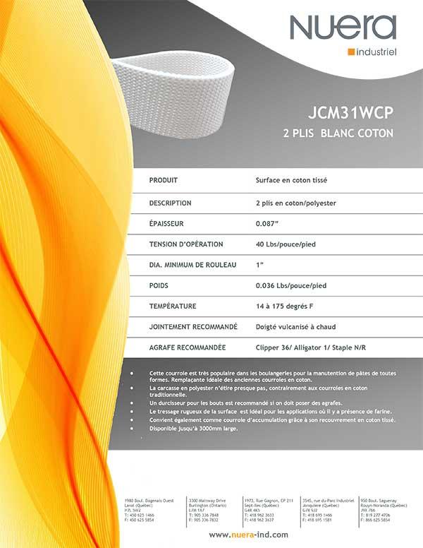 Courroie JCM31WCP