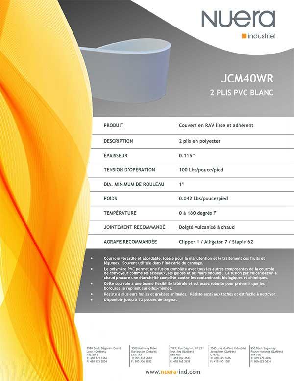 Courroie JCM40WR